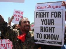 Cape Argus Protestors