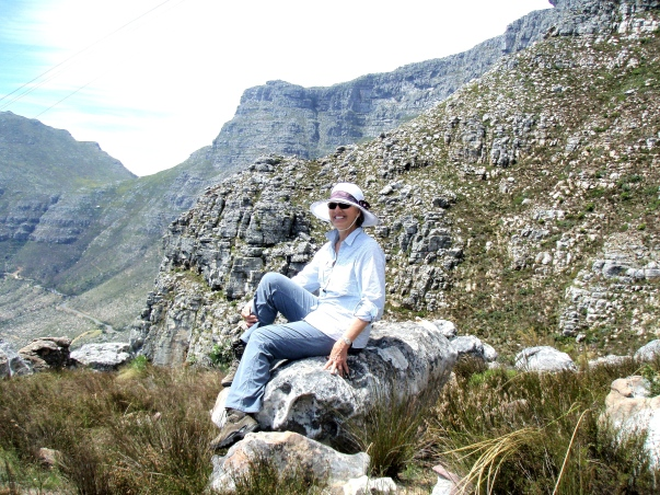 Sue on Table Mountain