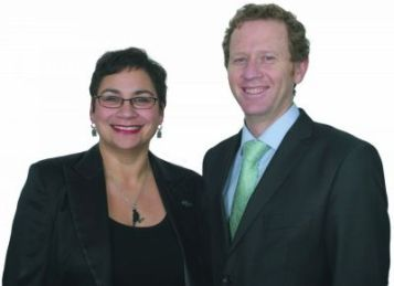 Metina Turei and Russel Norman Green Party