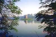 Turtle Tower Hoan Kiem Lake