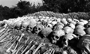 Skulls and Bones of Genocide Victims