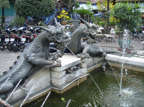 Dragon Fountain Binh Tay Market