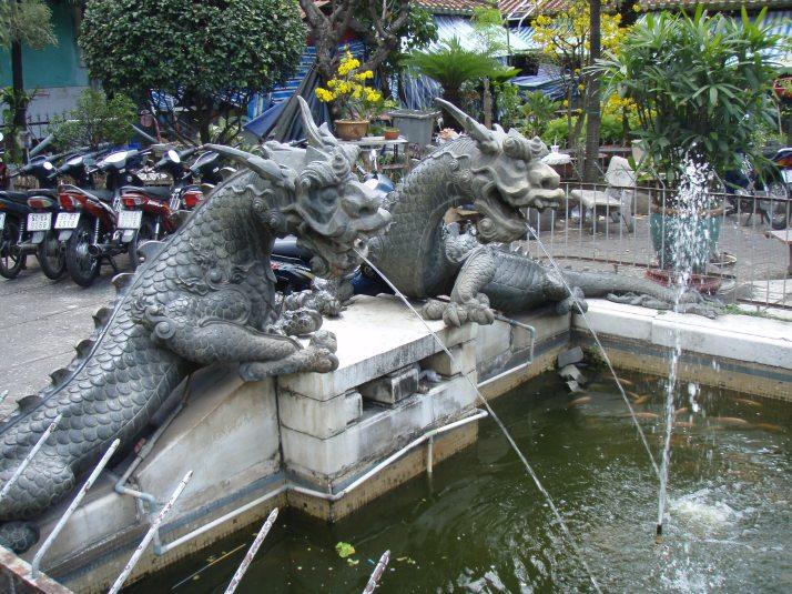 Dragon Fountain Binh Tay Market