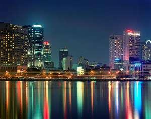 Night Reflection Saigon River