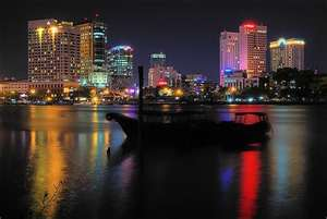 Saigon River at Night