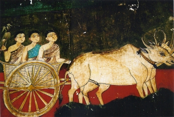 Color Ox Cart