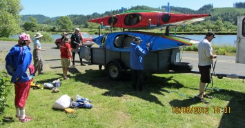 Loading Kayaks