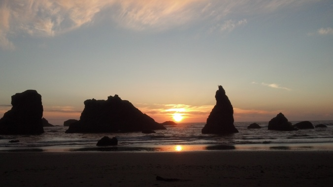 Bandon Sunset by Mary