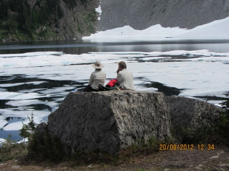 Lunching at Iceberg Lake
