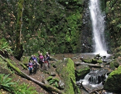 Hikers at House Rock Falls