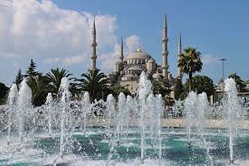 Water Fountain between-Blue Mosque and Hagia Sofia