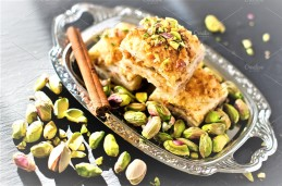 Turkish Baklawa Pastry with Pistachios
