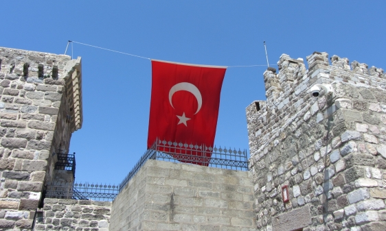 Flag Between Towers
