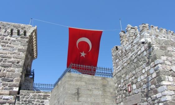 Flag Between Towers