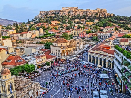 Artist Drawing Athens