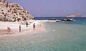 Aspronissi Island Beach