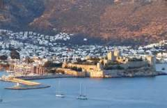 bodrum castle from hills