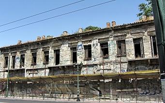 Rundown Gazi Building