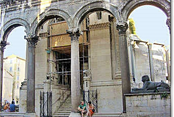Entrance Diocletian's Mausoleum