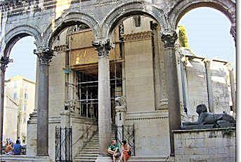 Entrance Diocletian's Mausoleum