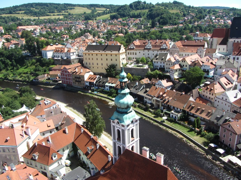 Ceský Krumlov from Tower