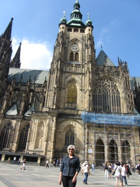 Dwarfed by Cathedral