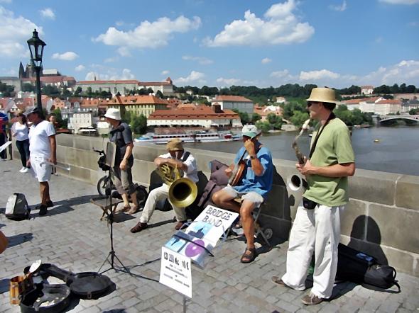 Musicians Charles Bridge
