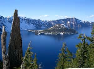 Crater Lake on a Sunny Day