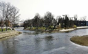 Confluence Malše & Vltava Rivers