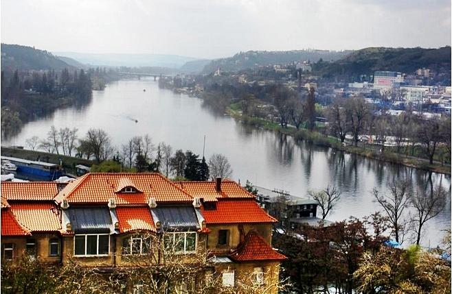 Vltava from Vyšehrad Castle