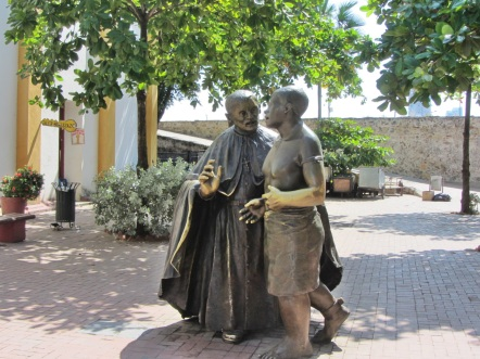 Sculpture of Two Monks