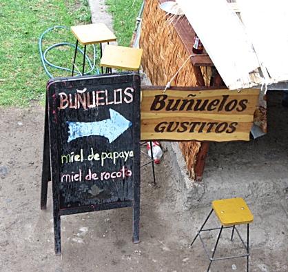 Bunuelos with Macre & Sweet Potatoes