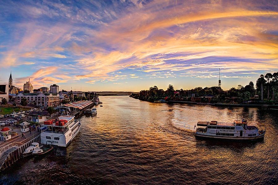 Boats Valdivia River - Charles Brooks