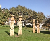 Wood Carvings Patagonian Indians