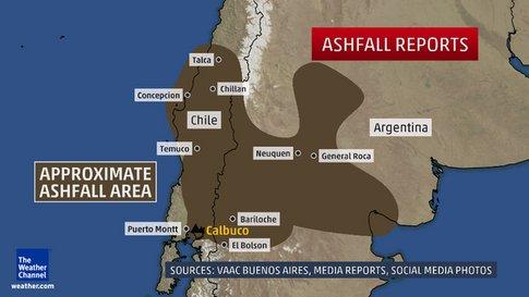 Ash Fall Volcano Calbuco
