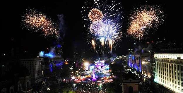 Fireworks Plaza de Mayo