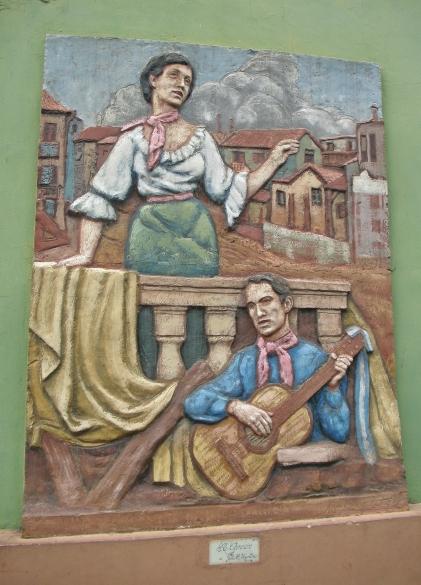 Mural of Street Musicians