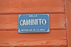 Calle Caminito Sign