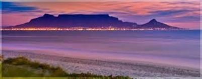 Sunset from Bloubergstrand