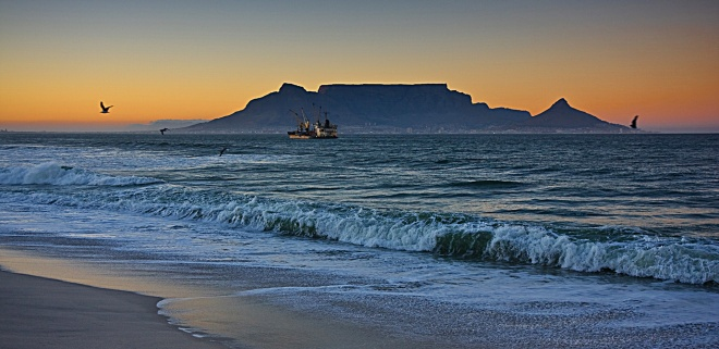 Table Mountain from Table View Beach