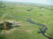 Okavango Delta from Airplane