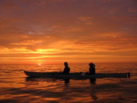 Kayaker Sunset Mouille Point