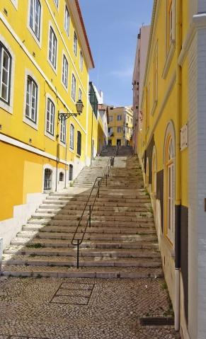 Lisbon Sidestreet Stairrway