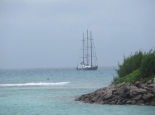 Three Masted Schooner La Digue