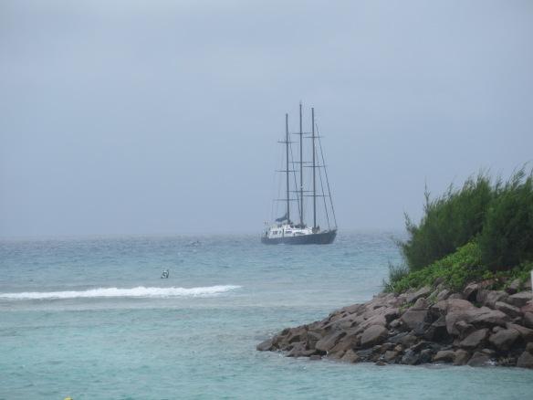 Ship La Digue Harbor
