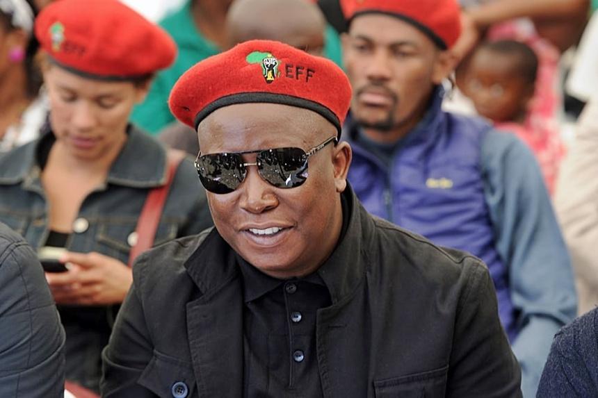 Julius Malema Leader Economic Freedem Fighters (EFF) -blouinnews