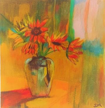 Sunflowers in Vase