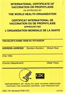 International Certificate of Vaccination