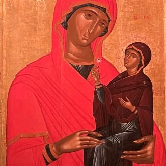 Angelos Akotantos St. Anne and the Virgin 15th Century